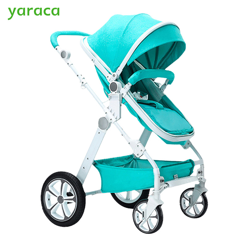 Baby Stroller 2 in 1 High Landscape Baby Carriages For Newborns Trolley Baby Carts Prams For Children With Seat & Lying Modes folding baby stroller lightweight baby prams for newborns high landscape portable baby carriage sitting lying 2 in 1