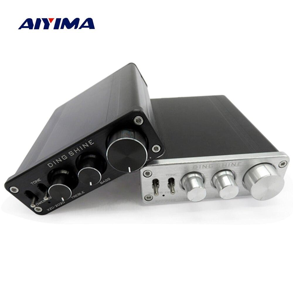 Aiyima TA2020 Audio Amplifier 20W+20W 2.0 Dual Channel Class T Digital Home Theater Amplifiers DC12V 5pcs ta2020 020 zip32 ta2020 zip new and original free shipping