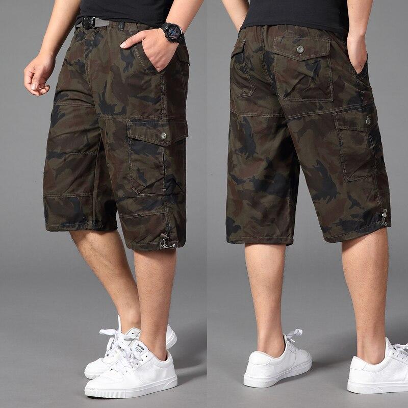 tops Summer baggy camouflage hip hop Military large Harem pants 150 kg Plus size 32-44 46 48 50 men cotton Calf-Length Pants