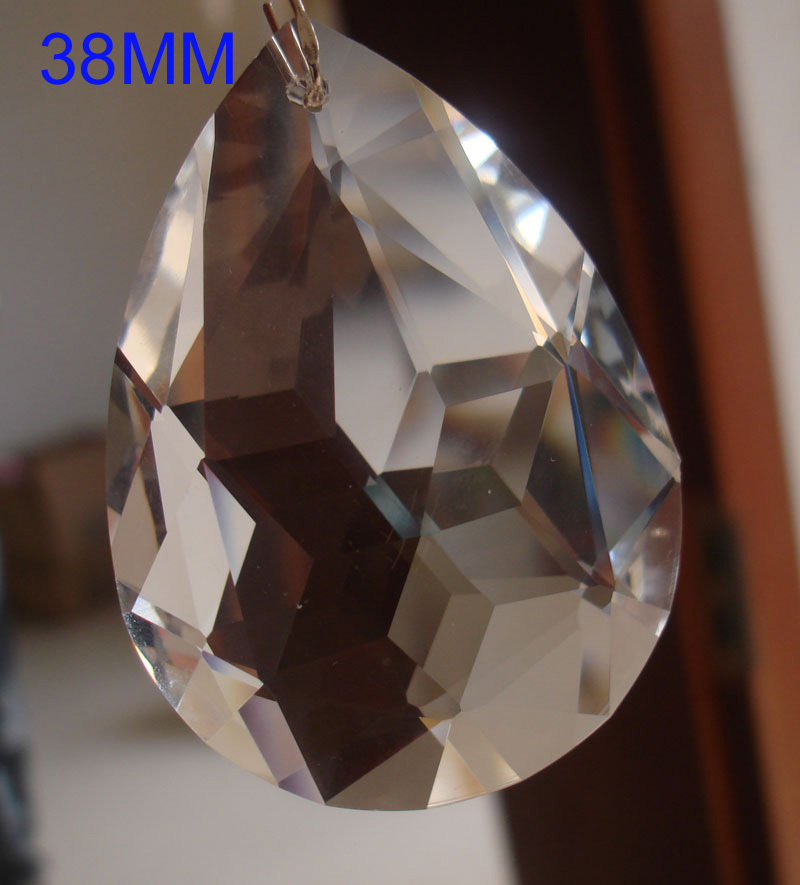 30pcs/lot 38mm crystal chandelier pendant crystal chandelier hanging pendant free shipping