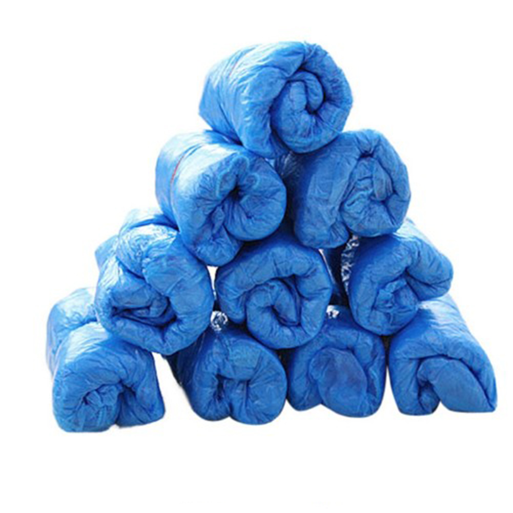 One-time  Medical Waterproof 20PCS Boot Covers Plastic Disposable Shoe Covers Over Shoes Rain Mud-proof Blue Color Solid 2018One-time  Medical Waterproof 20PCS Boot Covers Plastic Disposable Shoe Covers Over Shoes Rain Mud-proof Blue Color Solid 2018