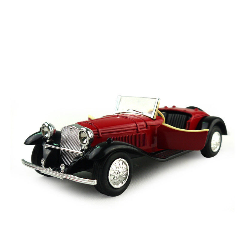 1:24 Vintage Old Car Convertible Cars Die Cast Model Car Kid Pull ...