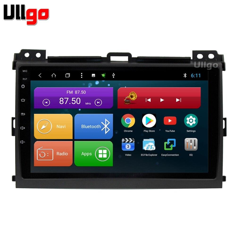 9 pouce Android 8.1 Unité De Tête de Voiture pour Toyota Land Cruiser Prado 120 2004-2009 Autoradio GPS avec BT radio RDS Miroir-lien Wifi