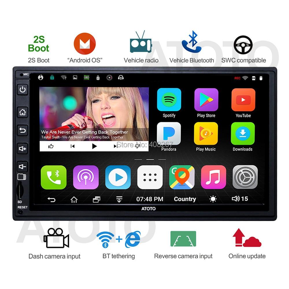 Atoto A6 Double DIN android-автомобильный GPS навигации стерео плеер/dual bluetooth/A62710SB 1 г/16 г автомобиль Развлечения мультимедиа Радио