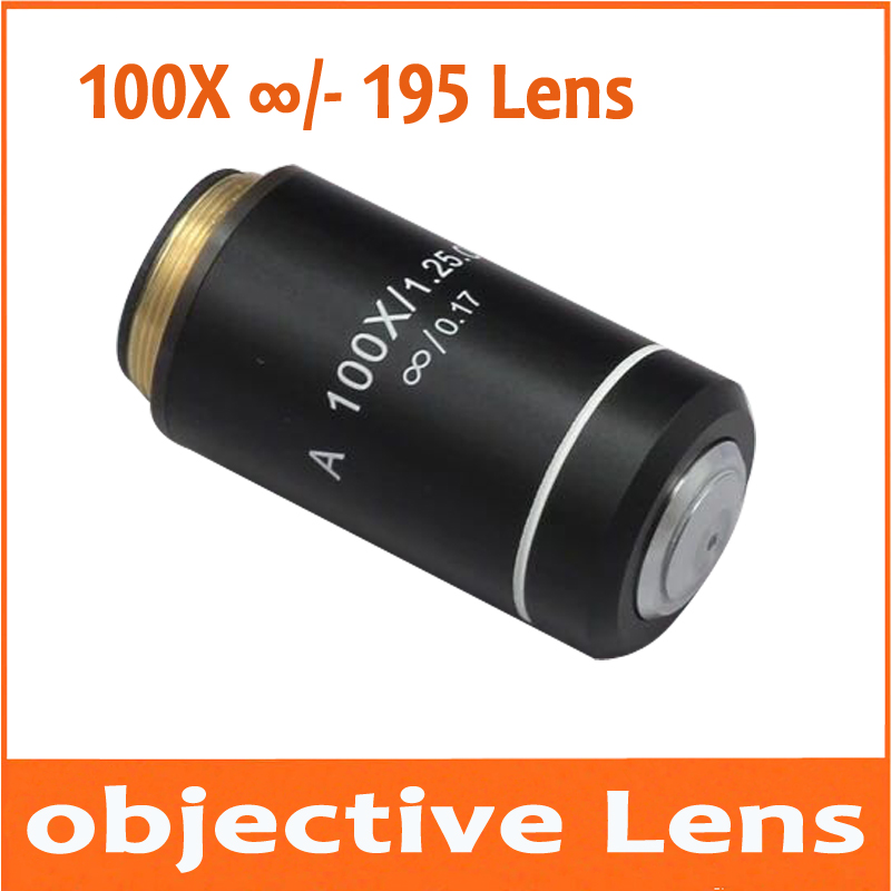 100X Infinity Biological Microscope Achromatic Objective Lens Olympus Biomicroscope UIS2 infinity Optical System CX21 CX3 CX41 leetun a 4x 0 10 achromatic infinity objective lens for biological microscope zeiss olympus infinity microscope