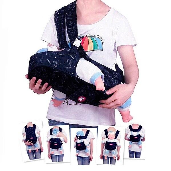 Новый эргономичный рюкзак горизонтальные маленьких Переноски Слинг Один shoulde маленьких Обёрточная бумага Комфорт Рюкзак hipseat детское крес...