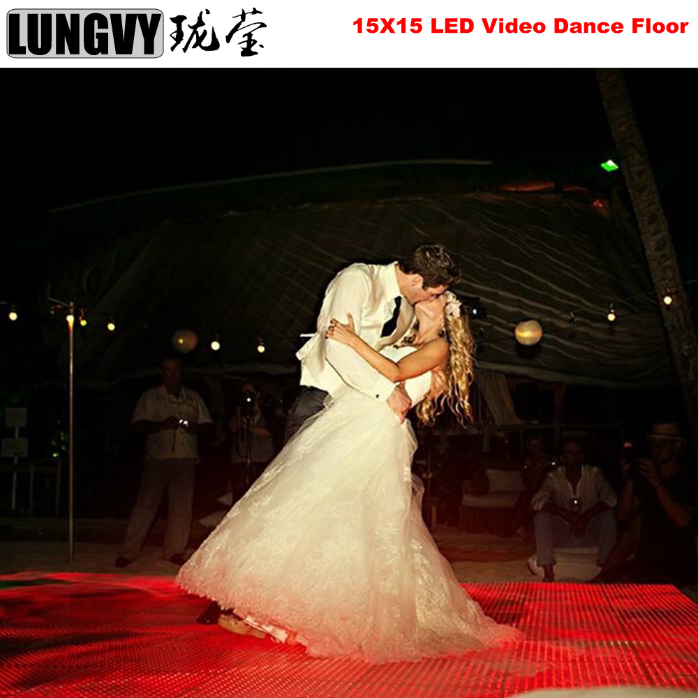 Free Shipping 30pcs/Lot 15x15 Pixel Led Video Dance Floor Colorful Showing Patterns Words Led Video Floor Panel For Wedding