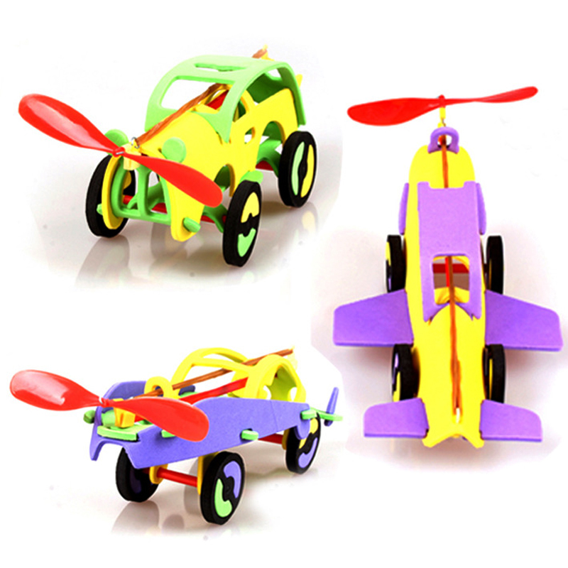 Diy Buliding Model Rubber Band Airplane Rubber Toy Eva