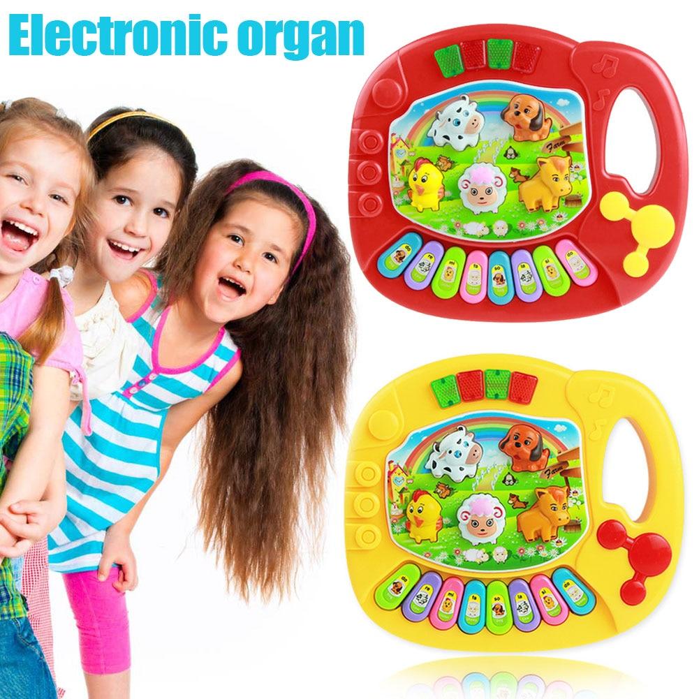 Baby Kids Musical Piano Animal Farm Developmental Educational Game Toys 88 S7JN