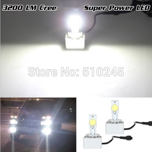 10 SET X 2014 New 3200LM D1 D3 12V 24V 6500K Auto Car Headlight led Car Running Light Fog Light bulb free shipping free shipping donar esc 24v 200w multicolour sensitometry machine light bulb 02