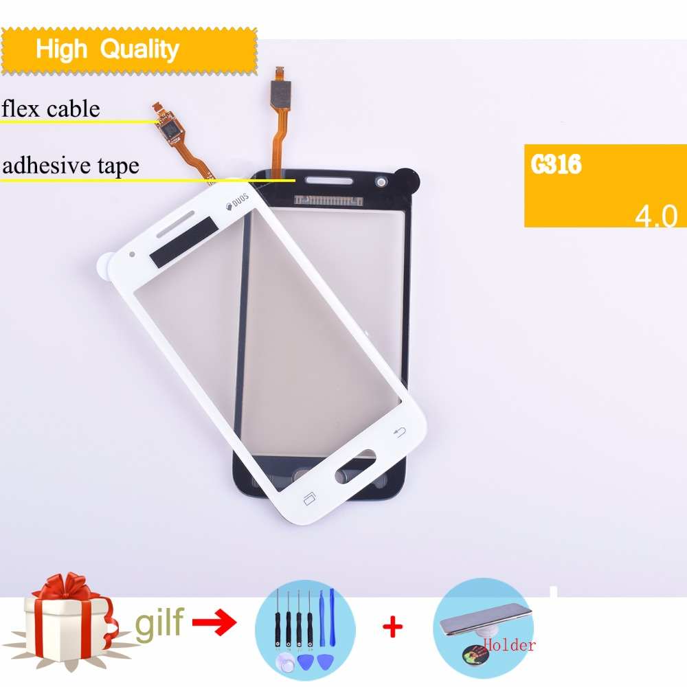 10pcs/lot New G316 Touch Screen For Samsung Galaxy Ace 4 Neo G316 G316m G316h Digitizer Touch Panel Sensor Glass Lens Panel High Quality Goods