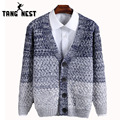 TANGNEST Hot Selling Fashion Youth Spell Color Long-sleeved Sweater Men Autumn Winter Warm Single Breasted Cardigan Men MZM451