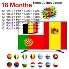 7 lines Cccam For 1 Year Europe Cccams Spain/Germany GTMEDIA V8 Magic,V7s HD Nova,IPS2,IKS Receptor Satellite Receiver