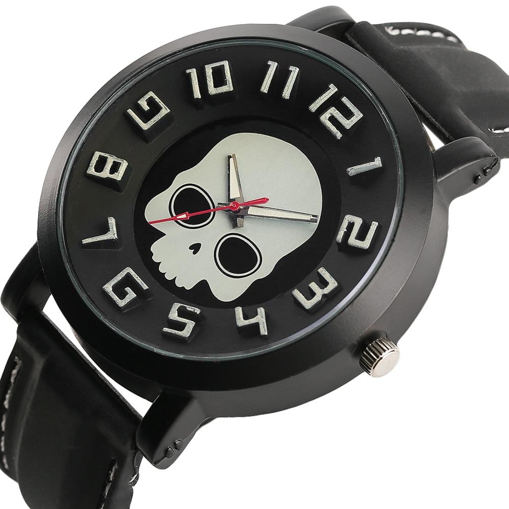 Unika Mänsklocka Gothic Ghost Skull Dial 3D Display Armbandsur - Herrklockor