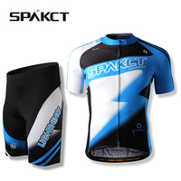 SPAKCT Cycling Bike Bicycle Quick Dry Breathable Short Sleeve Clothing Suit Sports Jersey Shorts Set M
