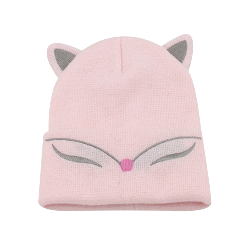 Baby Hats 2018 Baby Girls Wool Beanie Hat Ski Cap Knitted Spring Sock Caps for Boys Stocking Hat Cat