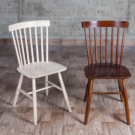 Cafe Chairs home Furniture Pine solid wood louis chairs coffee chair dining chair chaise nordic furniture minimalist 46.5*43*84
