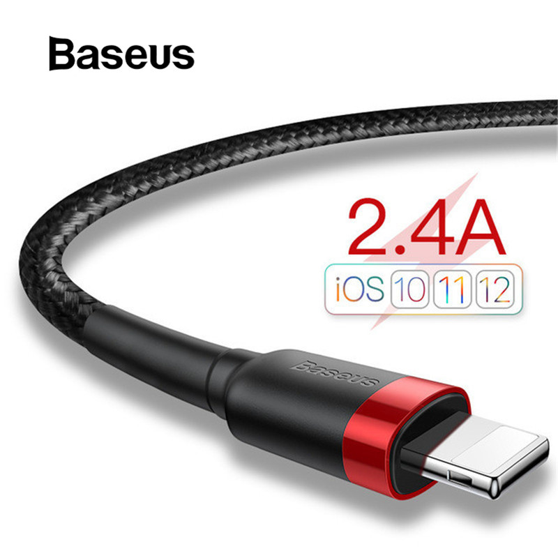 Baseus USB Cable For IPhone X Charger Charging Cable For IPhone 8 7 6 6s Plus USB Data Cable Phone Cord Adapter(China)