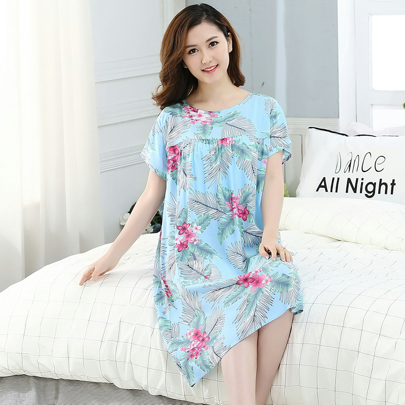 Women's Loose   Nightgown     Sleepshirts   Vintage StyleFloral   Nightgowns   Nightdress Lounge Sleepwear