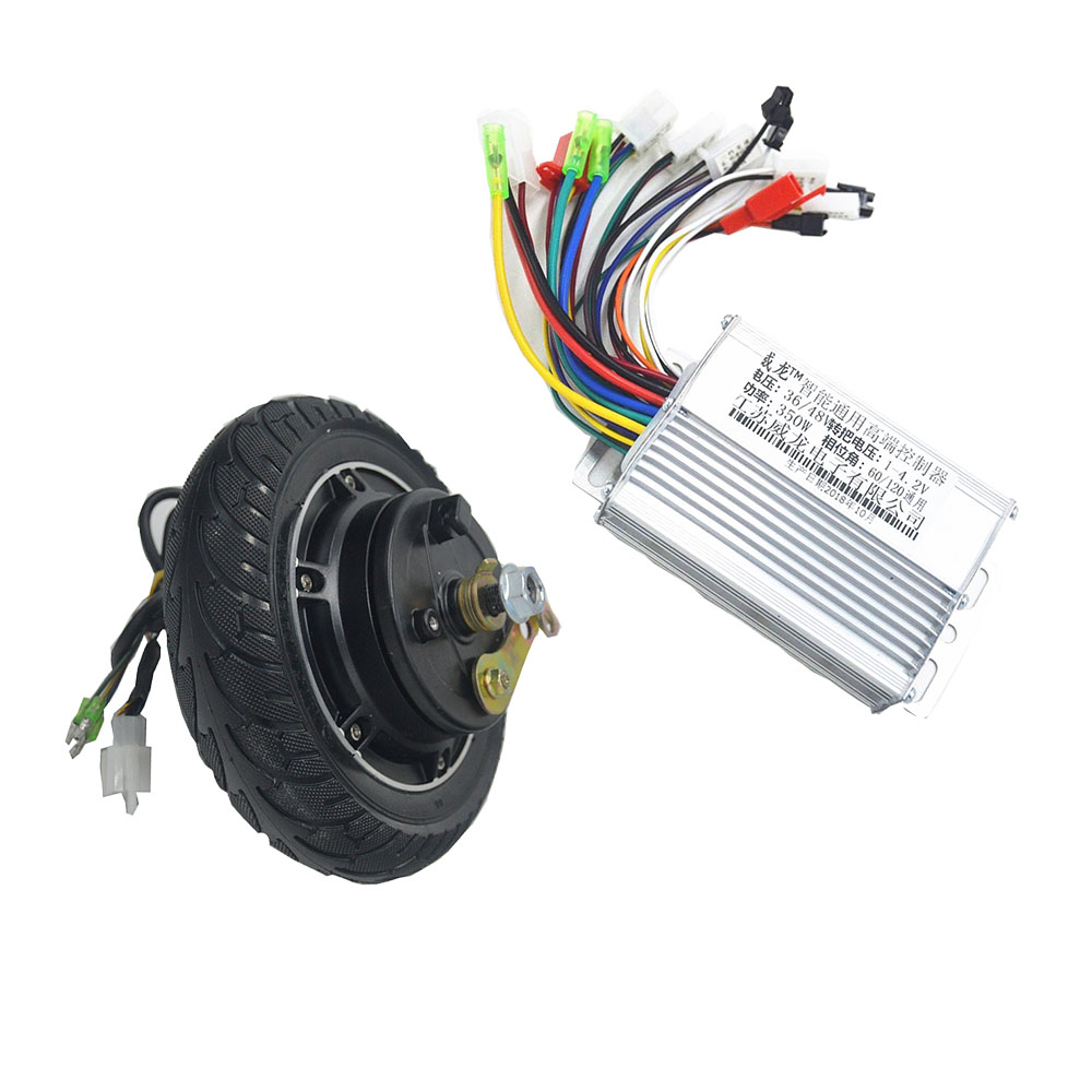 36V 48V Electric Wheel 8inch Hub Motor 350W Brushless Non-Gear Hub Motor For Electric Scooter e-Bike Motor Wheel kit electric motorcycle 60v1000w brushless non gear hub motor 225 55 8 tire vacuum tire for electric bicycle wheel motor