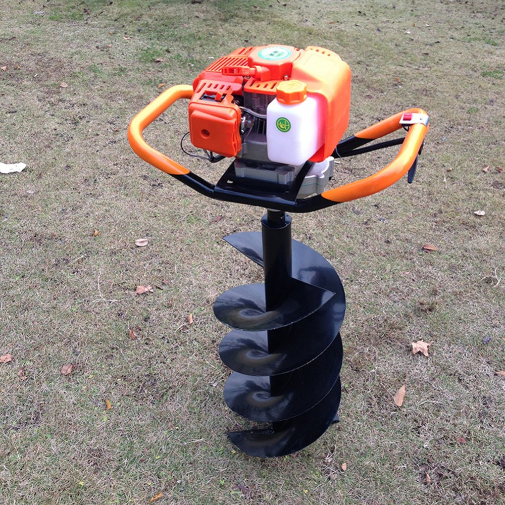 Ground Drill Post Hole Earth Auger Plans DIY Homemade Soil Digger