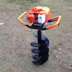 Wiertarka do lodu o dużej mocy benzyna Power Post Hole Digger Ground wiertarka wiertło ślimakowe elektronarzędzie Professional 1 Set w Wiertła od Narzędzia na