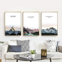 Nordic Style Rocky Mountain Landscape Decoration Painting Everest Sunset Scenic Hotel Wall Art Painting Pictures By Numbers pamela nissen rocky mountain match