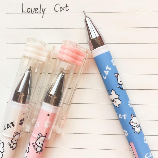 L01 3x Super Cute Kawaii Cat Paw Gel Pen Writing Signing Student Stationery School