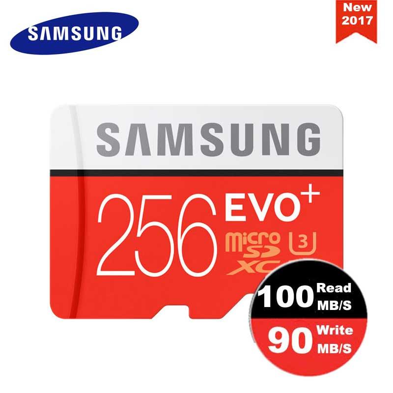 SAMSUNG Micro carte mémoire SD 256 GB Class10 EVO Plus TF carte C10 SDXC Trans mémoire Flash pour Huawei P10 & LG G5 téléphone portable - 4