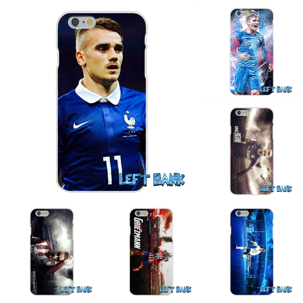 France Soccer Star Antoine Griezmann Soft Silicone TPU Transparent Cover Case For iPhone 4 4S 5 5S 5C SE 6 6S 7 Plus