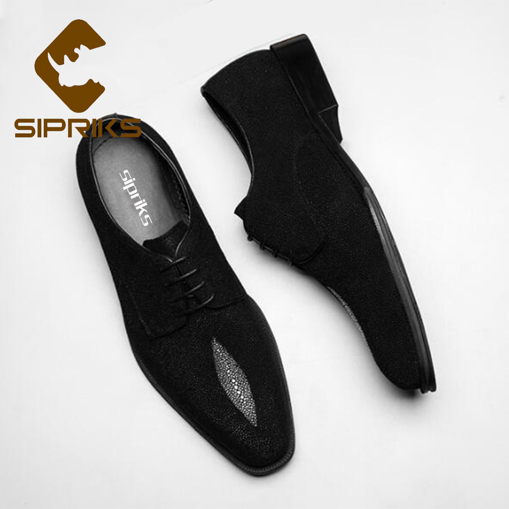 Supply Sipriks Classic Genuine Leather Printed Crocodile Skin Dress Shoes Boss Mens Business Office Gents Suit Social Formal Tuxedo 44 Men's Shoes