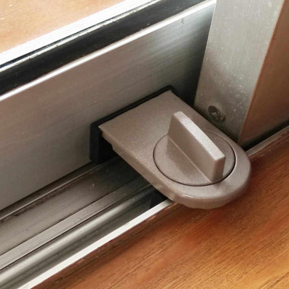 เด็กทารกเด็กประตูล็อคเลื่อน Sash Stopper ตู้ประตูรักษาความปลอดภัยหน้าต่างเลื่อนประตู Anti-theft