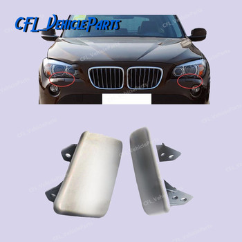 Pair Front Bumper L Or R Headlight Washer Cover Unpainted 51112993585 51112993586 For BMW X1 E84 2009 2010 2011 2012 image