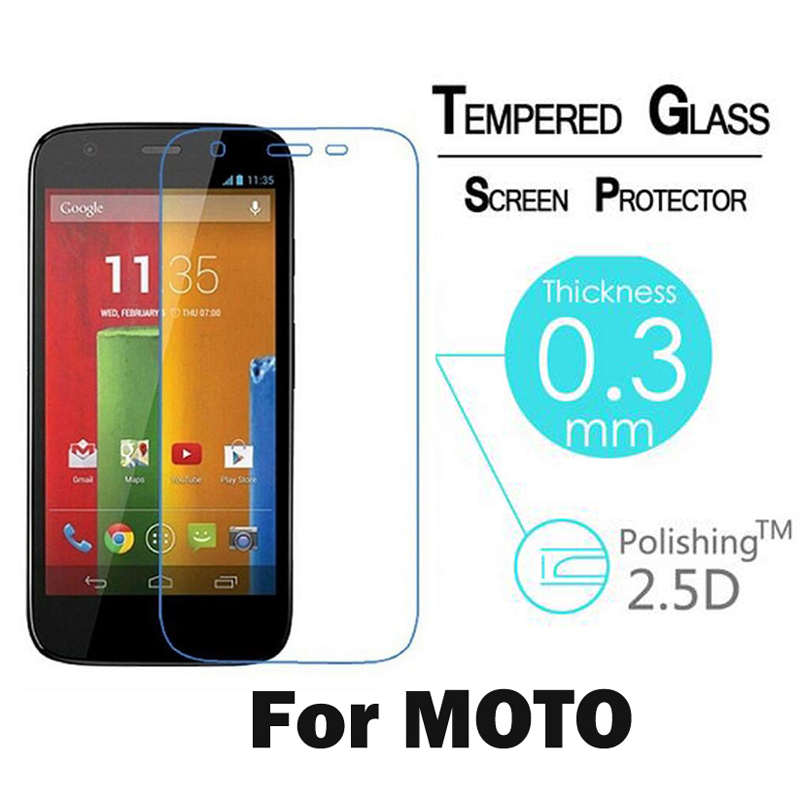 9H 2.5D Screen Protector Tempered Glass For Motorola For Moto G G2 G3 X2 E X Style X Play Toughened Glass Protective Film