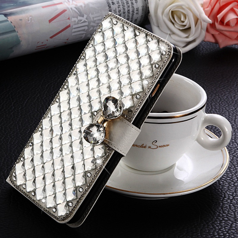 Glitter Rhinestone Case For Nokia 3 Nokia3 Diamond Flip Leather Cover 3D Crystal Strass Flowers Holder Kickstand Phone Cases