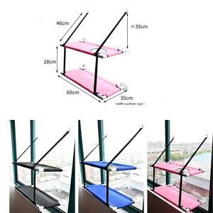 Image 5 - Chat de compagnie fenêtre maille lit Double pont chat se prélasser fenêtre monté siège perche hamac maison ventouse lit suspendu tapis salon
