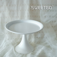 European Style Cake Stand 8inch White Wedding Candy Bar Cake Tools Cupcake Display Plate For Party