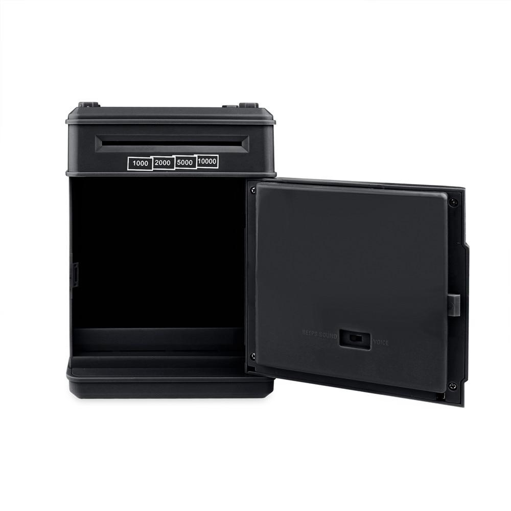 Electronic Piggy Bank ATM Password Money Box Cash Coins Saving Box ATM Bank Safe Box Automatic Deposit Banknote Christmas Gift 4