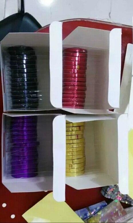 linha bonito 60 rolos arte do prego decoração adesivo
