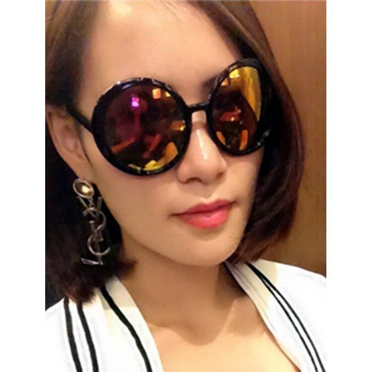 Sun Li 2015 Color Film Sunglasses Retro Round Frame Sun Glasses Hot Mom Story 9707-In -5638