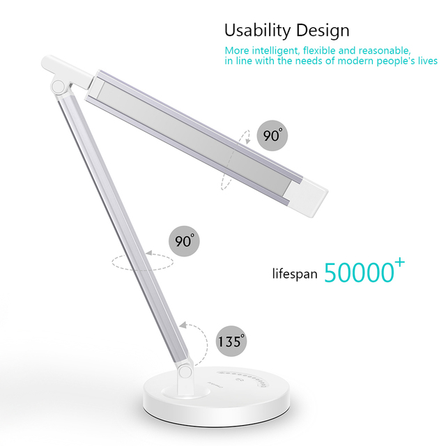 Led Desk Lamp Business office light Touch control Eye Protection Light Dimmer USB Charge Led Table Lamp 10W 5 Colors temperature 1