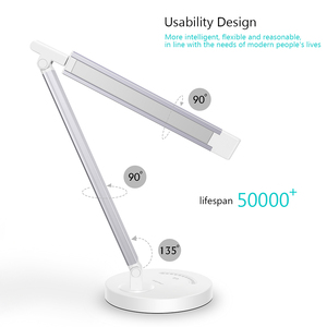 Image 2 - Greenbird LED Desk Lamp, Eye caring Table Lamps, Dimmable Office Lamp with USB Charging Port, 5 Lighting Modes with 7 Brightness