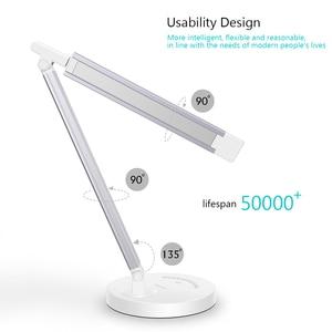 Image 2 - Greenbird ledデスクランプ、目思いやりテーブルランプ、調光対応のofficeランプusb充電ポート、5照明モードと7輝度
