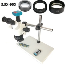1080P 30MP HDMI USB C Mount Video Camera 3.5X-90X simul-focal Continue Trinocular Microscope Phone Soldering PCB Repair Tools цены онлайн