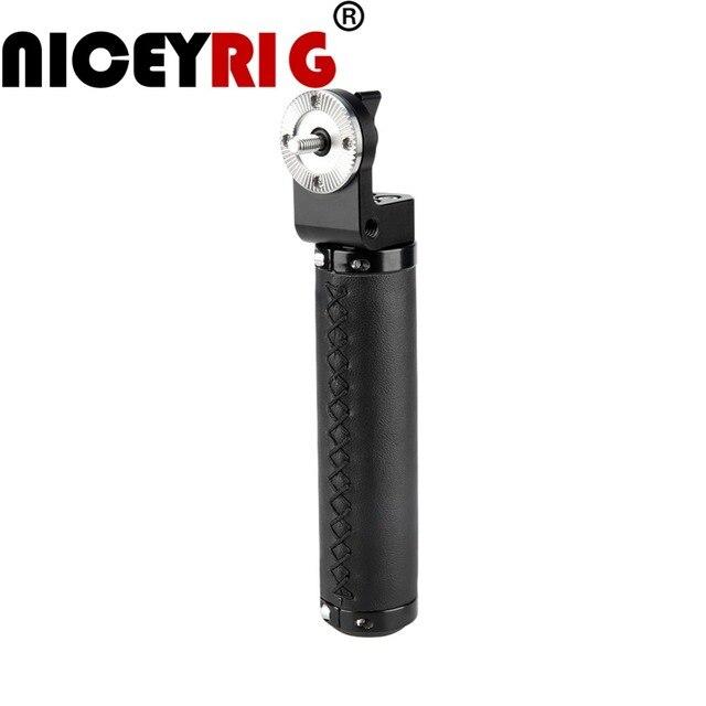 NICEYRIG Deri Kolu Kavrama Omuz Rig ARRI Kolu ARRI Rozet DSLR Video Kamera için Kamera Eylem Dengeleyici