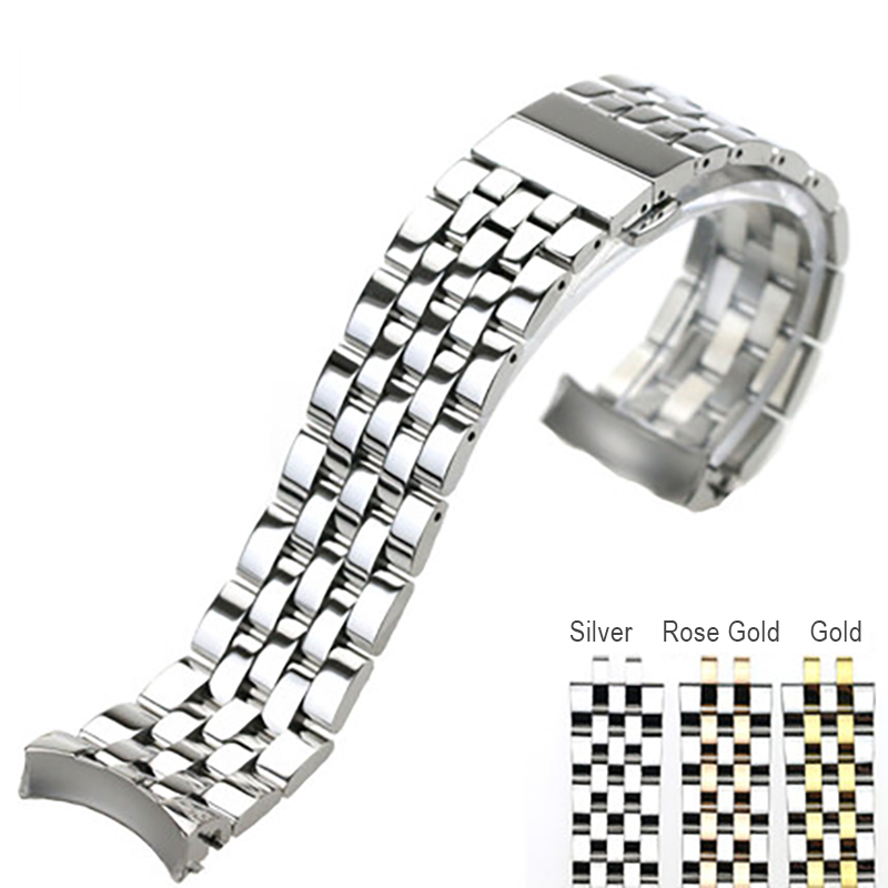 ISUNZUN 22mm Watch Band For MIDO Baroncelli M8605/8690/8607 Watch Strap Stainless Steel Bracelet For Men Gold/Silver WatchbandsISUNZUN 22mm Watch Band For MIDO Baroncelli M8605/8690/8607 Watch Strap Stainless Steel Bracelet For Men Gold/Silver Watchbands
