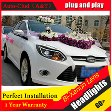 Auto Clud head lamps For ford focus 2012 2014 bi xenon lens LED Angel Eyes DRL