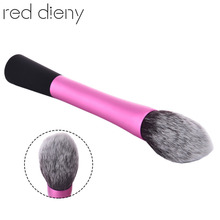 Facial Beauty Foundation Makeup Brushes Makeup Tools Pink Metal Handle Flame Shape Brush Head Professional Powder Blush Brushes