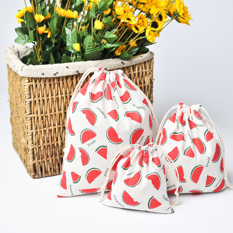 1PCS ETya Reusable Shopping Bags Cotton Drawstring Home Kitchen Fruit Vegetable Storage Bag Travel Eco Grocery Package Pouch