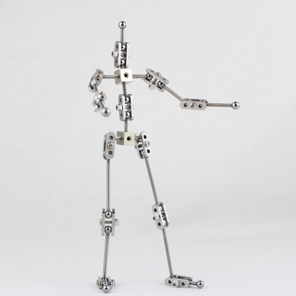CINESPARK SWA-19 19CM woman type Not-Ready-Made stainless steel DIY animation armature for stop motion character puppet cinespark sba 15 15cm not ready made stainless steel diy stop motion character puppet armature kit